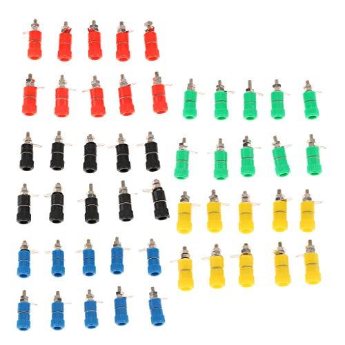 joyMerit Adaptador de Poste de Encuadernación de Plátano Industrial de 50 Piezas de 4 Mm para Soldar (5 Colores)