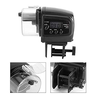 Hazmemejor Fischspender - Digital LCD Elektronischer Fischspender Timer Automatischer Fischspender für Aquarien oder Aquarien