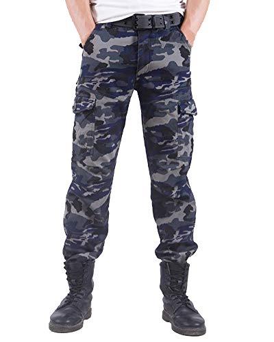 ShiFan Thermohose Herren Cargo Arbeit Camo Hose Outdoor Camping Wandern Gefütterte Hosen Camouflage 1 32