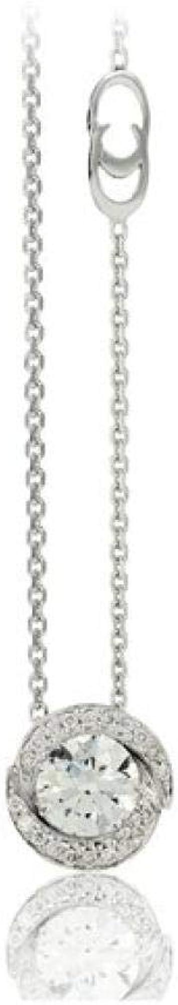 Chimento ,girocollo per donna in oro bianco 18 kt(3,5gr)e diamante centrale con pave`di diamanti 0,34 ct 1GER0304G5450