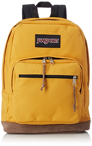 JanSport Right Pack 15 Inch Laptop Backpack - Any Occasion Daypack, English Mustard