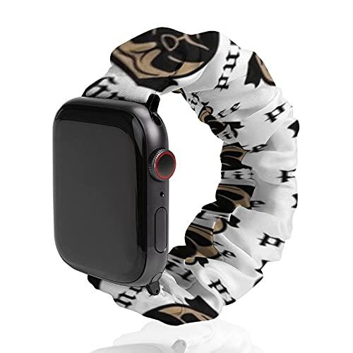 Cinturino da uomo e donna compatibile con Apple Watch 42 mm/44 mm, morbido elastico elastico di ricambio per iWatch Series SE 6/5/4/3/2/1, Pug Life Thug Pug Dog Pugsta' Pup Perfect Carlino