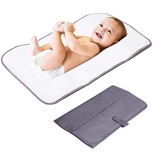 Lekebaby Fasciatoio Portatile, Fasciatoio Portatile Kit, Fasciatoio Pieghevole da Viaggio per Bambini, Grigio