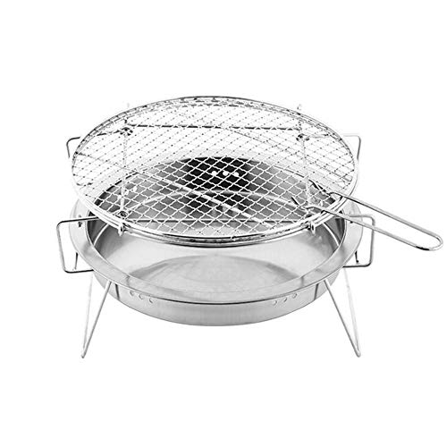 Sale!! ZCF Outdoor Mini BBQ Grill Stainless Steel BBQ Grill Folding BBQ Grill Barbecue Accessories P...