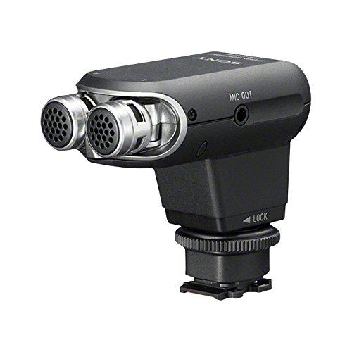 Sony ECM-XYST1M Stereomikrofon für Kameras & Camcorder mit Multi-Interface-Zubehörschuh (120-Grad-Sound, Mikrofonausgang, Vlogging, passend für u.a A9, A7, A6000 Serien, RX100 Serien) schwarz