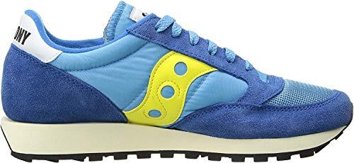 Saucony Herren Jazz Original Vintage Sneakers, Blau (Yellow/Blue 46), 44 EU