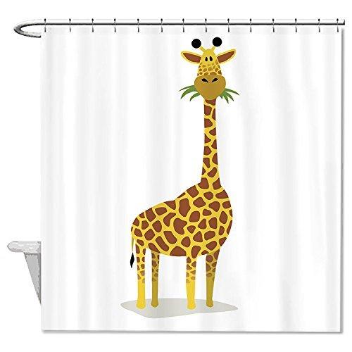 rioengnakg Schimmelresistent Stoff Giraffe Cartoon Polyester Duschvorhang wasserdicht, Polyester, #1, 72