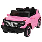 JOYMOR Kids Ride on Toy, Kids Truck 6V Battery Motorized Vehicles, w/Parent Remote Control, Children's Best Toy with 3 Speeds (Pink)