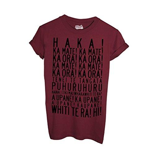 MUSH T-Shirt Inno Rugby Nuova Zelanda all Blacks - Sport by Dress Your Style - Uomo-L-Rosso Cardinal
