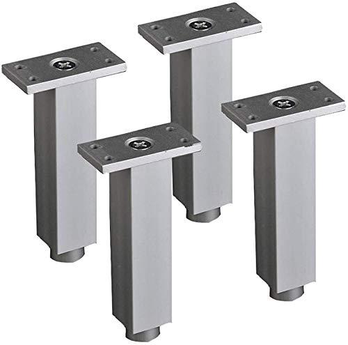 4 Patas Pcs de Muebles, Ajustable Sofá Pies, aleación de Aluminio, 6cm-20cm, Conveniente for TV Armarios, mesas, armarios de baño (Size : 20cm/8in)