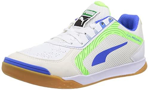 Puma Pressing II, Zapatillas de fútbol Sala Unisex Adulto, White-Bluemazing, 44 EU