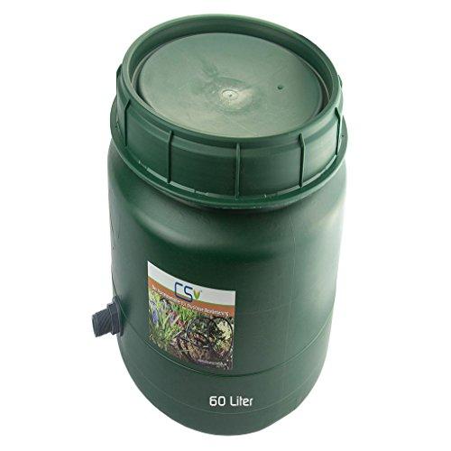 CS Drehdeckelfass 60 Liter grün mit Tankdurchführung für die drucklose Bewässerung
