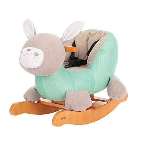 NEHARO Kind reiten Spielzeug Kinderschaukelpferd-Baby-Trojan Schaukelstuhl Standing Aufsitz-Pferd-Spielzeug mit 28 Musik-Sicherheitsgurt Pedale Sattel für Jungen oder Mädchen