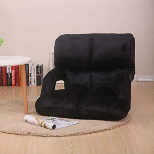 Cómoda silla plegable de franela, cojín acolchado de 6 posiciones con reposabrazos de apoyo para la espalda, sofá de doble asiento reclinable para juegos de yoga