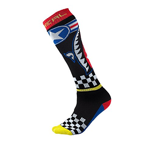 O'Neal Pro MX Sock Wingman blk blue red yello 2017