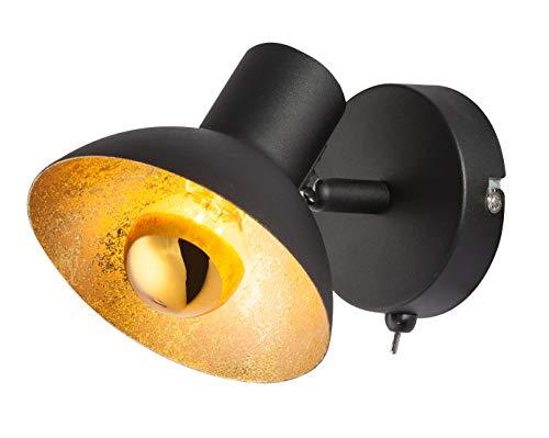 Globo Noir et métal doré spot Lotte