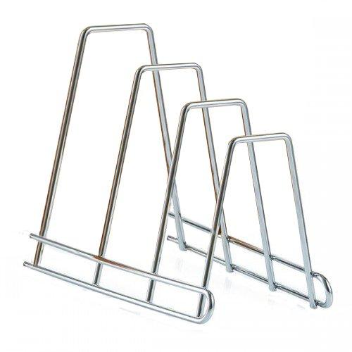 Zeller 24850 Brettchen-/ Tellerständer, Metall verchromt, ca. 14 x 22,8 x 18 cm