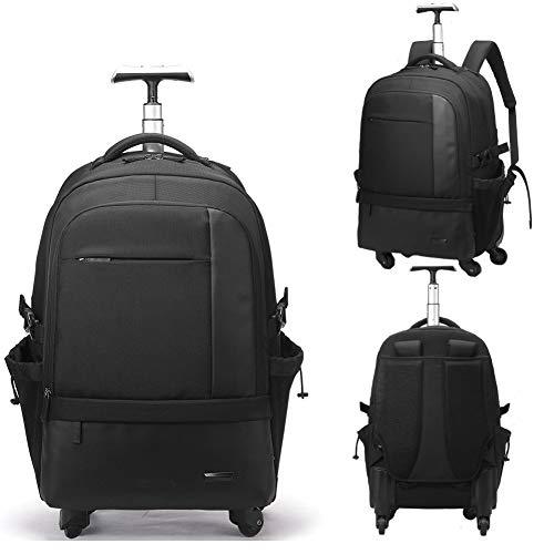 GLLSZ Wheeled Backpack 28.9',Trekking Zaini, Zaino Student, di Rotolamento Zaino Scuola Zaino Borsa Zaino da Viaggio con Ruote Trolley Sacchetti di Scuola Bookbags Wheeled Backpack,Nero,28.9inches