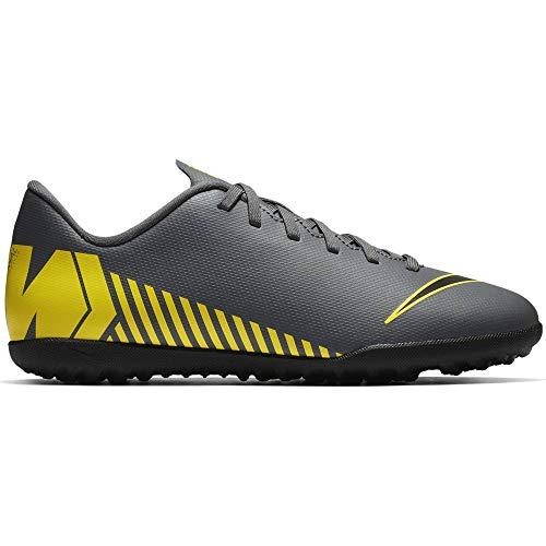 Nike Bota Futbol TF Vapor XII Gris-Amarilla GS - Talla 32