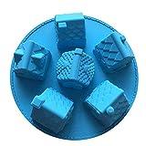 Viewsys Molde for hornear Copa Silicona de Calidad Alimenticia pasta de azúcar del caramelo mousse de chocolate Pastel de moldes con la forma DIY Casa Villa for hornear (juego de 2) Magdalena Moldes (