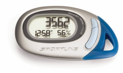 Sportline 370 Traq Motion Sensor Pedometer Monitors With 7 Day Total Memory Recall To Accurately Track Steps, Distance, And Calories Burned