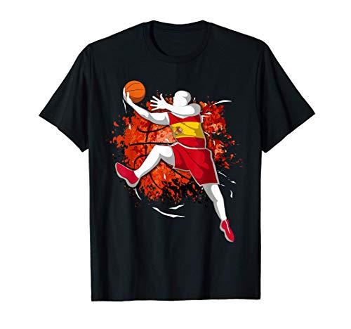 Baloncesto de España - Bandera Nacional de España Basketball Camiseta