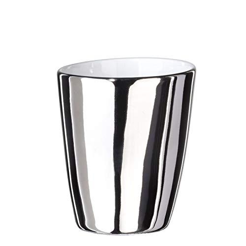 Tasse à Expresso Assoiffée Porcelaine Blanc Brillant et Platine Diam 5 cm Tsé & Tsé