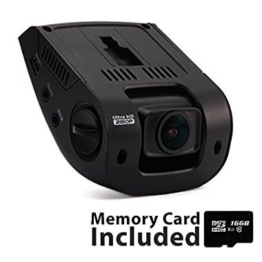 Rexing V1 3rd Generation 4K UHD WiFi Car Dash Cam 2.4  LCD 170° Wide Angle Dashboard Camera Recorder with WiFi, 16GB Card, G-Sensor, WDR, Loop Recording