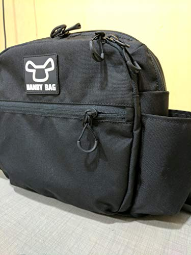 Side Bag from Handy Bag for Electric Wheelchairs (Black Bag White Logo)