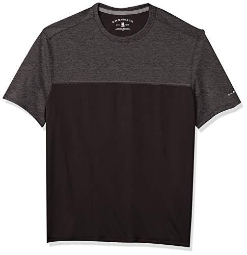 G.H. Bass & Co. Men's Sunblocker Short Sleeve Crewneck T-Shirt, Black, X-Large