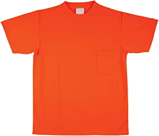 SAFEGEAR Safety T-Shirt - Size 5XL - Breathable, Moisture Wicking Polyester - Orange, High Visibility Shirt for Men or Wom...
