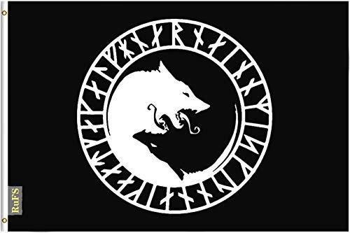 RuFS Odin Thor Viking Norse Wolf Gartenhaus einseitig Polyester Zeichen Outdoor Banner Außenwand Innenhof Banner Dekor