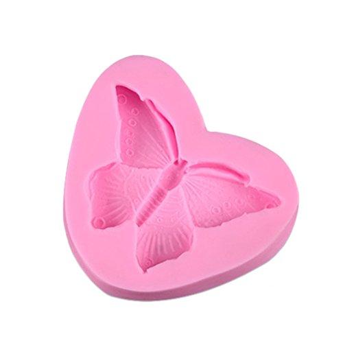 Bestonzon en silicone en forme de papillon Moule à Cake Chocolat Sucre Craft Moule à décoratifs Bakery DIY accessoire (Rose)
