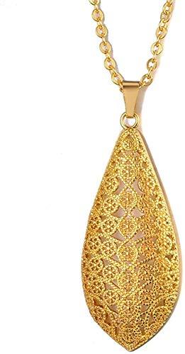 WYDSFWL Collar de Color Dorado con Colgante de Alá, Collares Redondos, árabe, musulmán, joyería islámica, corazón, Mujeres y niñas, 60cm, Cadena de Regalo