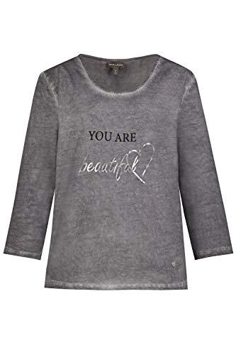 GINA LAURA Dames Shirt, Print You Are Beautiful Blouse