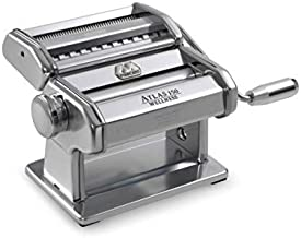 Marcato Atlas Pasta Machine, Silver, Includes Pasta Cutter, Hand Crank, and Instructions (8320SL)