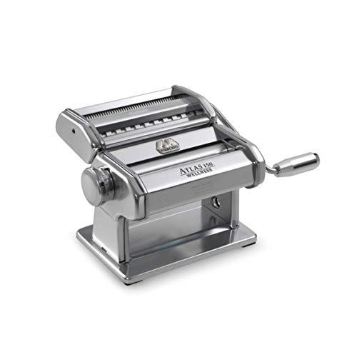 Marcato Atlas - Máquina de pasta, color plateado, incluye cortador de pasta, manivela e instrucciones (8320SL)