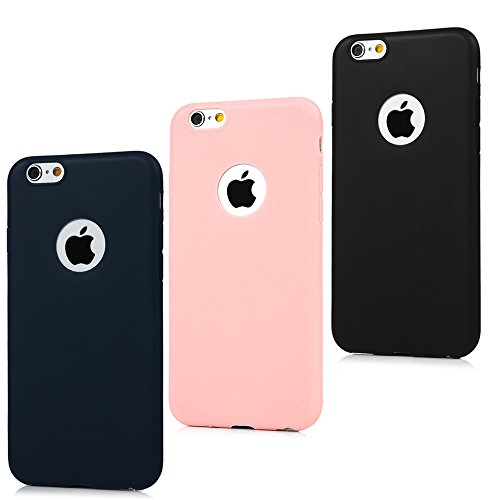 BADALink - Custodia in TPU per iPhone 6/iPhone 6S (4,7 pollici), con foro per logo