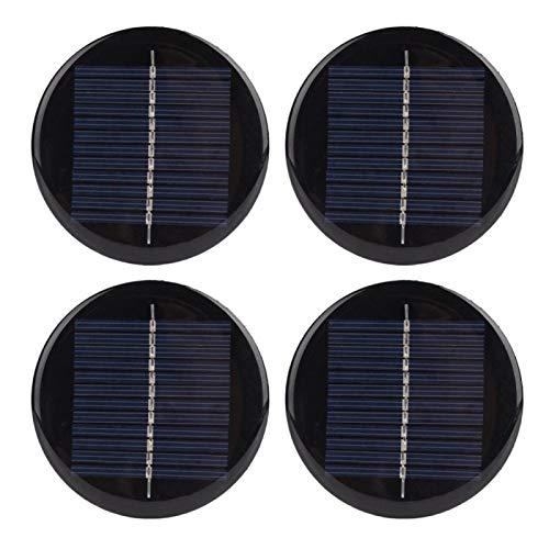 FOLOSAFENAR Cargador de energía Solar de redondez 80 mm Cargador de módulo de Panel de célula Solar de redondez Cargador de energía Solar 4 Piezas para Todos los electrodomésticos pequeños