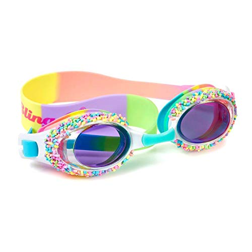 Bling 2O Kids Swimming Goggles - Rainbow Cake Pop with Sprinkles Goggles for Girls - Ages 3+ - Anti Fog, No Leak, Non Slip, UV Protection - Hard Travel Case - Lead and Latex Free (Whoopie Pie)