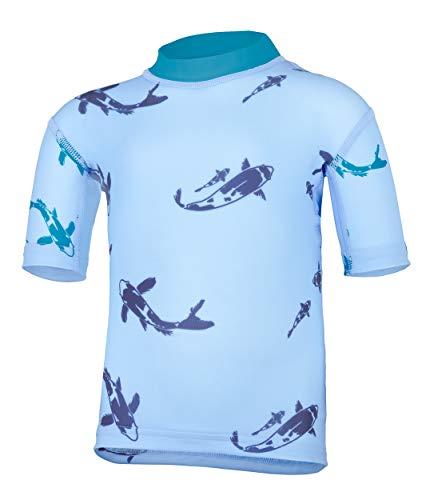 hyphen med Baby UV-Schutzkleidung (Sonnenschutz-Faktor 80) Kurzarmshirt Kois pid Blue (80/86)