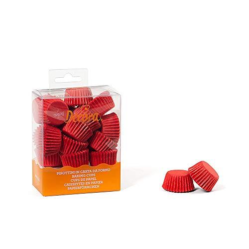 Decora 0339637 Pirottini, Carta da Forno, Rosso, 27x17 mm, 200 unità