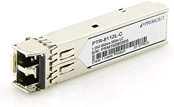 PRIMUSIT 100% Compatible Cisco GLC-SX-MMD/GLC-SX-MM/SFP-GE-S, Gigabit SFP SX Transceiver, 1000Base-SX, MMF, 850nm, 550m