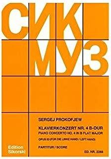 PROKOFIEFF S. - CONCIERTO N 4 SIb M (P MANO IZQUIERDA) - OP.53 ...