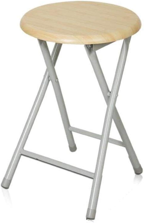 FENGFAN Folding Stool Chair Steel Frame Outdoor Indoor Portable Furniture Round Kitchen Breakfast