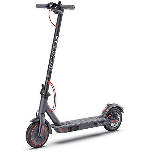 Macwheel MX PRO Electric Scooter, Max Speed 15.5MPH, Max Range 25 Miles, Foldable, Dual Braking Systems, Maintenance Free Tires, Electric Scooter for Adults