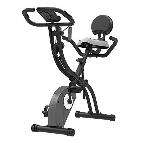 Car Las Bicicletas de Ejercicio Vertical (ciclos Estudio de Interior) - Calidad de Estudio con Monitor de Ritmo cardíaco, la Correa de transmisión, Resistencia Infinita, Pantallas LCD, táctiles
