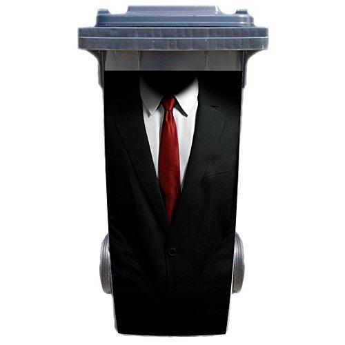Werbetechnik Jeziorski Mülltonnenaufkleber Motiv: Krawatte