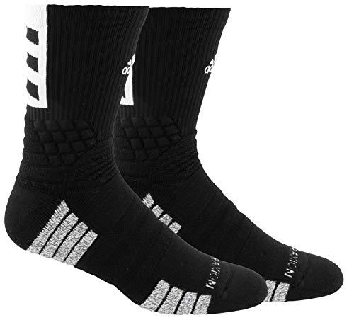 adidas Creator 365 Basketball-Socken (1 Stück), Unisex-Erwachsene, Socken, Pro Madness Crew, schwarz / weiß, Large