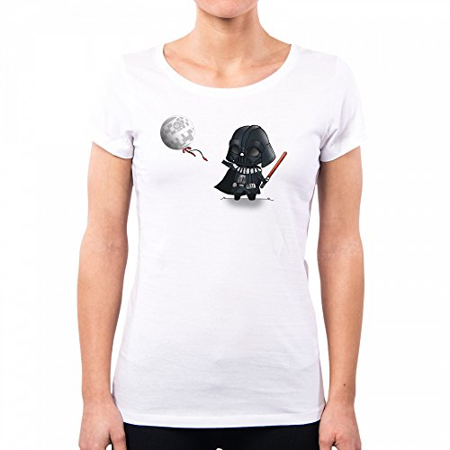 PacDesign T-Shirt Donna Lil Sith Graphiti Darth Vader Fener Star Wars Lc0006a, White